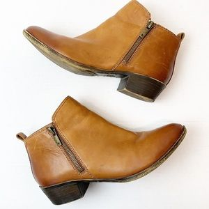 Lucky Brand brown leather ankle booties 8
